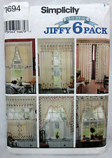 Simplicity HOME Sewing Pattern #8694 STENCILED CURTAINS - PANEL VALANCE - UNCUT