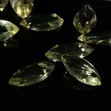(15) 18mm Czech vintage jonquil oblique oval faceted Swarovski glass rhinestones