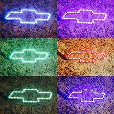 CHEVY SILVERADO TAHOE AVALANCHE BOWTIE LED Light Color Change RGB Halo Ring
