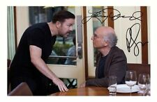 LARRY DAVID & RICKY GERVAIS - CURB YOUR ENTHUSIASM SIGNED A4 PP POSTER PHOTO