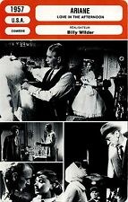 Movie Card. Fiche Cinéma. Ariane / Love in the Afternoon (USA) Billy Wilder 1957
