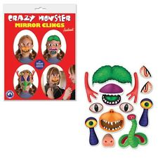 Crazy Monster Mirror Clings Speech Therapy Pretend Play Bathroom Humor
