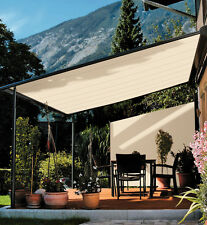 UV &Tear Resistant Retractable Side Awning Shade 180cm Beige Automatic roll-back
