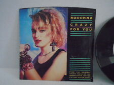 Madonna Crazy for You 45 Record From Original Sound Track Warner Motion Picture