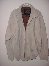 Giovanni Navarro Italian Stone Design Suede Leather Size X Large Jacket