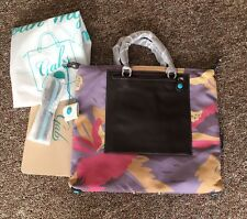 NWT GABS Convertible G3 Large Textile Fiber Leather Tote Shoulder Bag Made Italy