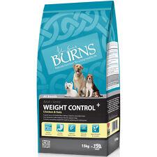 2 x 15kg burns poulet & avoine chien contrôle de poids + diabétique seulement £ 44.75 chacun!