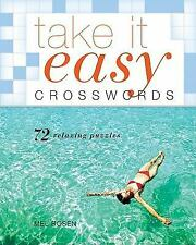 NEW - Take It Easy Crosswords: 72 Relaxing Puzzles by Rosen, Mel