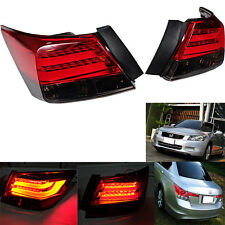 08 09 10 11 12 13 Honda Accord Led Tail Lamp + Garnish Unpainted Red Light Bar
