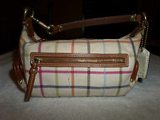 Coach 40949 Bleeker Tatter Sail Plaid 2 Kiss Lock Coin Pouches Handbag Purse