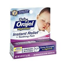 Orajel Baby Nighttime Night Time Teething Pain Relief Gel 5.1g Cherry Flavor
