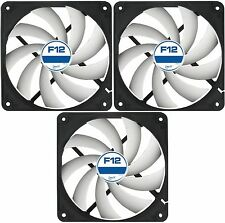 3 x Pack of Arctic F12 120mm PC Case Fan - Rev 2 - Silent, High Performance
