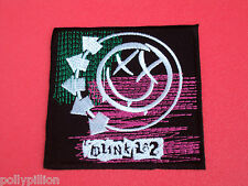 PUNK ROCK HEAVY METAL MUSIC SEW ON / IRON ON PATCH:- BLINK 182 (c) PURPLE SMILE
