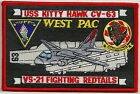 CV-63 USS KITTY HAWK AIRCRAFT CARRIER VS-21 FIGHTING REDTAILS SQUADRON PATCH