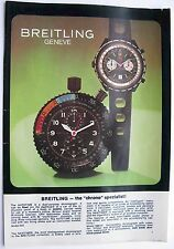 vintage Breitling Watches brochure catalog 8 pages print in Germany