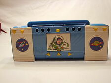Vintage Toy Story Buzz & Woody Flomo 90s Pencil Case Holder Box Blue Radio Mint
