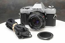 :Minolta X-370 35mm Film SLR w MD Rokkor X 45mm F2 Lens & Strap