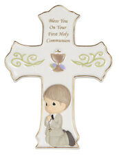 Precious Moments - BLESS YOU ON YOUR HOLY FIRST COMMUNION CROSS W/ EASEL #133410