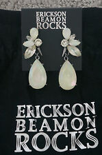 NEW Erickson Beamon Rocks Blondie Crystal Cluster Hematite Dangle Earrings RARE