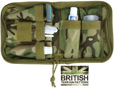 British Army Combat Zip Compact Luxury BTP Travel Wash Bag Shave Kit Roll New US