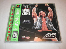 WWF Warzone (PlayStation PS1) GH Game Complete LN Perfect Condition Mint!