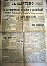 IL MATTINO 7-8/08/1912 - LA CONFLAGRAZIONE BALCANICA E' COMINCIATA? - N. 753