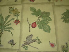 ~BTY~BRAEMORE~MONKEYS BUTTERFLIES BUG ANIMALS~COTTON UPHOLSTERY FABRIC FOR LESS~