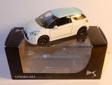 NOREV 3 INCHES 1/54 CITROEN DS3 2010 BICOLORE BLANCHE TOIT BLEU IN BOX