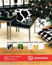 PUBLICITE ADVERTISING 085  2005 FRANCE TELECOM   WANADOO   la LIVEBOX