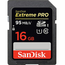 SanDisk 16GB Extreme Pro 95MB/s Class 10 SDHC Memory Card - Authorized Dealer!
