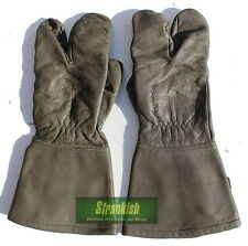 Size LARGE GENUINE GERMAN ARMY MOTOR BIKE QUAD BIKE GLOVES LEATHER
