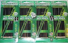 LOT 40 No #2 Dixon TICONDEROGA BLACK HB PENCILS Pre-Sharpened 4 METAL SHARPENERS