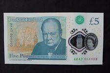 AK47 KALASHNIKOV WITH LEE-ENFIELD 303 £5 FIVE POUND NOTE SERIAL no AK 47 504 303