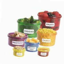 Portion Control, Weight Loss Diet Suitable - Meal Prep Containers (7pcs Set)