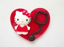 CUTE SWEET KITTY NURSE RN MEDICAL TEACHER EMT AMBULANCE  ID BADGE HOLDER