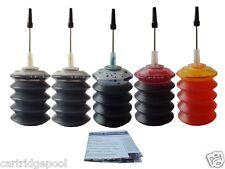 Refill Ink kit for Dell GR274 GR277 Series7 printer 966 968 968W 5X30ml
