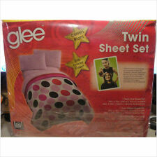 20TH CENTURY FOX HIT TV SHOW GLEE TWIN SHEETS SET~NEW~GLEE MUSICRED CRAYONCOLORS