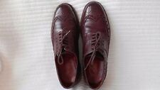 Grenson Archie Burgundy Brogue Grain Leather Commando Rubber Sole UK 9G Wide Fit