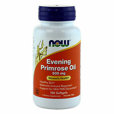 NOW Evening Primrose Oil 500mg 100 Softgels, Women's Health, FRESH, Made In USA