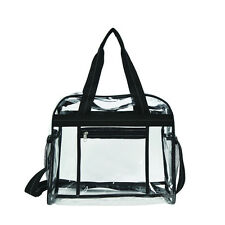 Travelwell The Clarity Clear PVC Dual Handles Adjustable Strap Messenger Bag