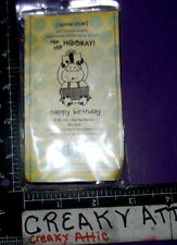 HIP HIP HOORAY HAPPY BIRHTDAY COW 2 CLING RUBBER STAMPS UNITY STAMP COMPANYBB365