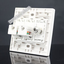 Wall plate 3 Port Socket 2 port CAT6 & One Port TV Panel Faceplat Cat6 TV