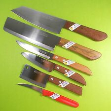 Thai Chef Knife Cook Knives Set Lot6pcs KIWI Wood Handle Kitchen Blade Stainless