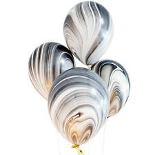 marble balloons, birthday Party Balloons, black and white Balloons, super agate