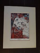 "Carole Sue Lebbin Etching ""CHAIR IN DISQUISE"" Signed/Numbered 1/10"