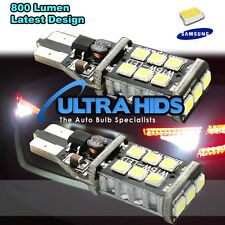 2x WHITE  REVERSE Canbus BULBS 15 SMD 194 921 T15 W16W LED car brake stop light