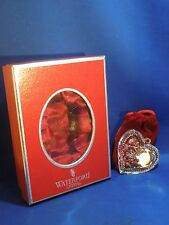 "Waterford Crystal Ornament ""Our First Christmas"" Heart With Original Box & Hook"