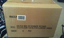 03/04 FLEER NBA H2 Hummer w/Card Cleveland Cavs Lebron James 6 Count sealed box