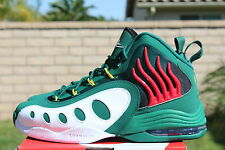 NIKE SONIC FLIGHT SZ 8.5 LEGION GREEN WHITE RED YELLOW GARY PAYTON 641333 300