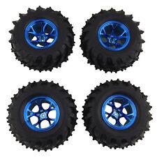 RC 1:10 Monster Truck Rubber Tires Tyre+Plastic Wheel Rim 4Pcs 0703-3002 For HPI